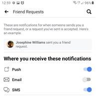 facebook notification individual settings