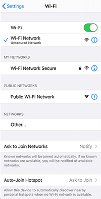 iphone turn on wifi to stop running out of data